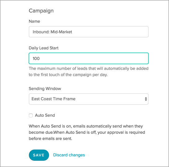 The Daily Lead Start Feature and New Sending Window Design